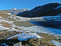 trk to Dshour lake (Sougata2013) Tags: mountain lake snow manali rohtangpass dshourlake dshour