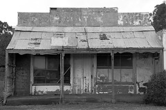 Downturn in the Retail Sector Mono (Darren Schiller) Tags: abandoned decay rustic rusted disused southaustralia derelict corrugated midnorthsouthaustralia
