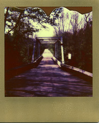 One lane bridge (Jacob's Camera Closet) Tags: camera bridge sun color film project polaroid gold one shade 600 lane frame instant impossible