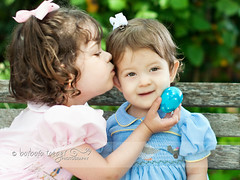 Give her a kiss 2 (Barbara Taeger (formerly Pianogram)) Tags: family girls color sisters easter children kiss affection siblings connection pianogram barbarataeger
