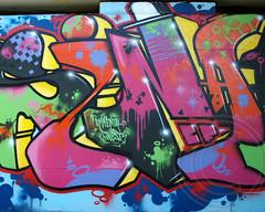 Graffiti Mural, Swiss Motorway Underpass, Buochs, Canton of Nidwalden, Switzerland (jag9889) Tags: bridge streetart art river underpass graffiti schweiz switzerland mural nw crossing suisse suiza motorway swiss svizzera brcke a2 canton ch faden svizra nidwalden e35 2013 fadenbrcke buochs engelbergeraa jag9889 swissmotorway