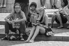 two glasses (105mm) Tags: girls people woman sun girl sunglasses amsterdam women legs candid style mini skirt blond mensen streetstyle