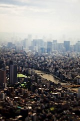 Tilt-Shift Tokyo (andrewharding127) Tags: camera sky blur tree japan photoshop lens tokyo miniature model bokeh shift tilt 500d andrewharding127