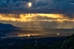 Atmospheric Sunset (yukonchris) Tags: light sunset summer cloud sun canada nature rain landscape flickr natural cloudy north yukon valley northern hdr genre northof60 southernyukon yukonrivervalley canon7d 2013favorite