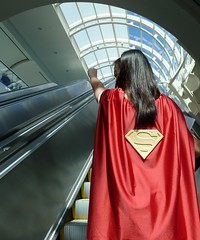 Supergirl flying at SDCC 2013 (Cutterin) Tags: woman girl wonder fly flying justice dc kat san comic cosplay diego super xmen cape supergirl marvel comiccon catwoman con league justiceleague sdcc zatanna psylocke 2013 sdcc2013 sandiegocomiccon2013 cutterin cuppcreations