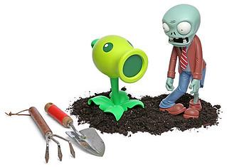 「植物大戰僵屍」粉絲專用庭園裝飾