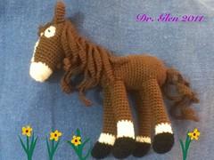 Amigurumi Horse (Dr.Glen2011) Tags: horse cute art toy crafts crochet tiny amigurumi ganchillo uploaded:by=flickrmobile flickriosapp:filter=nofilter