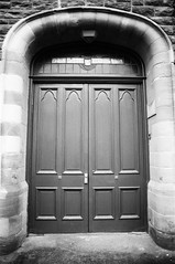28 Stornoway Library and Reading Room (I  Minox) Tags: blackandwhite film monochrome scotland olympus sutherland 100asa fomapan100 assynt om4 fomapan 2013 om4t olympusom4t olympusom4