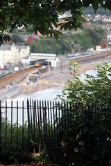 143 618 & 143 612 2F21 1419 Paignton - Exeter St Davids contrast with the railings at Lea Mount as they arrive at Dawlish (1451) Sunday 18th August 2013 (Colin.P.Brooks Railway Photography & Frinton) Tags: seawall devon firstgreatwestern pacer dawlish dmu dieselmultipleunit firstgroup fgw class143 leamount dawlishseawall corytontunnel dmudieselmultipleunit sunday18thaugust2013