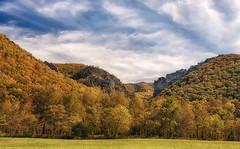 cliffs near Seneca Rock (Timberography) Tags: autumn fall nikon cliffs wv hdr senecarock d700