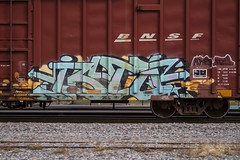 ISTO (TheLost&Found) Tags: urban baby art minnesota train photography graffiti paint all painted exploring champs minneapolis explore kings boxcar graff inc bnsf tci akb thelostandfound