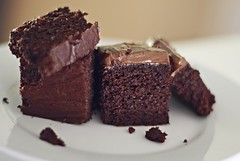 Chocolate Cake with Maple Peppermint Chocolate Frosting (Paleo)
