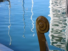 reflection 1 (kenjet) Tags: blue reflection water boat gondola ripples