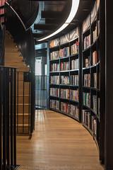 Books (Stuart Feurtado) Tags: wood city england architecture stairs birmingham nikon stair library indoor books step inside railing shaft midlands d600 birminghamcitylibrary