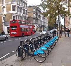 Nearly a full set (Lost-Albion) Tags: kensington barclays cycles tfl serco borisbikes