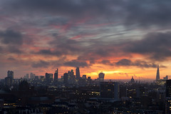 dramatic winter sunrise over London (London From The Rooftops) Tags: city uk winter sky urban london james skies view skyscrapers dramatic jb stpaulscathedral rawimages theshard englandview londonfromtherooftops