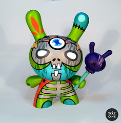 "8"" Cannibal Pistachio (WuzOne) Tags: colors toy skull diy geek handmade vinyl wip kidrobot pistachio collectible custom onsale swag voodoo cannibal dunny vinyltoy munny artoy wuzone"