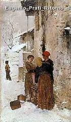 Eugenio Prati Ritorno da Massaua 1887 olio su tela 72 x 42,2 cm Collezione privata