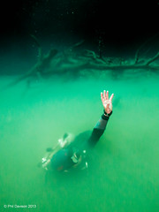 Emerging from the deep (phildavison) Tags: angel mexico underwater little yucatan diving cenote scubadiving angelitas