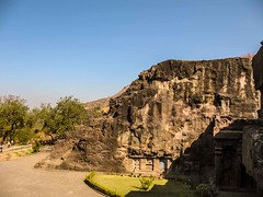 at Ellora Caves, the World Heritage (Johnnie Shene Photography(Thanks, 1Million+ Views)) Tags: world sculpture india heritage statue stone canon religious temple indian religion carving powershot carve caves engraving temples cave indians jain sculptures carvings hindi carves engrave jaina engravings ellora a630 engraves     hindis