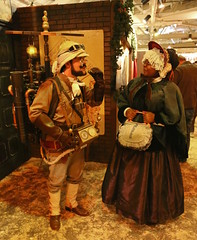 Professor Abner Perry (from the Pellucidar novels) with Nicole Smith (an original character) (beppesabatini) Tags: sanfrancisco california cosplay dickensfair edgarriceburroughs steampunk charlesdickens cowpalace greatdickenschristmasfair the35thannualgreatdickenschristmasfairvictorianholidayparty redbarnproductions