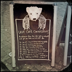 UEA Cafe Conversations (Leo Reynolds) Tags: bear polar 4s iphone aboard 0sec hpexif iphoneography hipstamatic iphone4s xleol30x oggl grouphipstamatic groupiphone xxx2014xxx xxgeotaggedxx