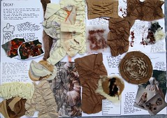Decay Experiments (Anya Jane Magee) Tags: brown black texture nature mushrooms death melting decay felt dying layering creased crinkled