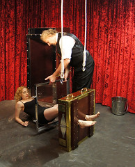 Houdini's Chinese Water Torture Cell (lady.houdini) Tags: water escapes houdini breathhold chinesewatertorturecell richardsherry daylekrall femaleescapeartist ladyhoudini