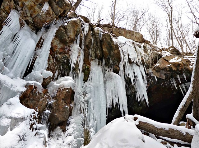 Icicles at Bradley Mine