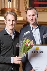 Fredrik Jansson och Daniel Axelsson från Hemnet, nominerad till Web Service Award 2013 i klassen Information & Service.