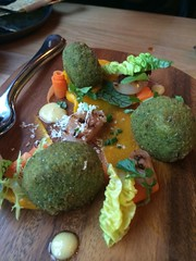 "Parsley crumbed and deep fried crispy pig's head, carrots, horseradish <a style=""margin-left:10px; font-size:0.8em;"" href=""http://www.flickr.com/photos/30579997@N08/12555416984/"" target=""_blank"">@flickr</a>"