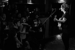 IMG_6786 (JonDBarker) Tags: blackandwhite music london live crowd performance singer acoustic fans interaction songwriter allisonweiss