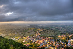 San Marino (socrates197577) Tags: nikon europa tramonto sanmarino paesaggi hdr paesaggio città nuvoloso photomatix