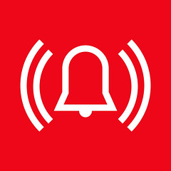 Alarm icon (ericquenehen) Tags: alarm bell urgent emergency caution evacuation attention firefighter sound ring reminder service siren snooze security protection noisy intruder alertness burglary industrial safety warn fire home loud alert urgency response wakeup danger panic wake indicator noise pushbutton signal clock silhouette illustration icon symbol sign pictogram red vector bulgaria