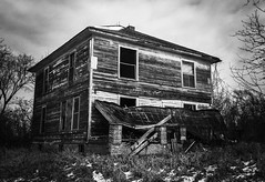 when relaxing on your front porch is no longer an option...(house with the white picket fence) (Aces & Eights Photography) Tags: abandoned abandonment decay ruraldecay oldhouse abandonedhouse