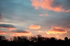 Brightness after a gray day (marensr) Tags: sky sunset clouds cloudscape blue pink peach dusk gloaming chicago evening light heavens