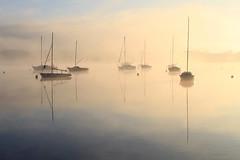 Sunrise (rogermarcel) Tags: sun waterscape landscape paysage boat rogermarcel brume mist
