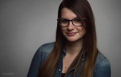 Dóri (danieldioszegi) Tags: portrait headshot woman girl beauty brown jeans grey photoshoot glasses