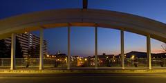 Sur le pont (Fabien Husslein) Tags: metz moselle lorraine france pont eble architecture road route city night ville nuit