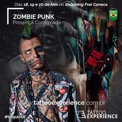 TATTOO EXPERIENCE & zombiepunk (zombiepunkkurt) Tags: tattooexperience zombiepunk convençaodetatuagem texp2016 tattoo tatuagem performancefreak freak zombie atraçao modificaçaocorporal icone inked
