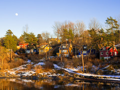 Oslo islands_ (María Arencibia) Tags: oslo norway houses nature architecture trees tree sky sunset scandinavia fjord snow water ocean boat moon mountain mountains