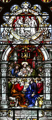 Maundy Thursday II - Passover and Last Supper (Lawrence OP) Tags: biblical lastsupper maundy thursday triduum stainedglass paloalto seminary stpatricks