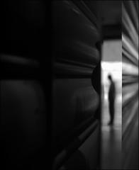 F_DSC2771-BW-Nikon D800E-Nikkor 28-300mm-May Lee 廖藹淳 (May-margy) Tags: 憶 maymargy bw 黑白 人像 剪影 金屬 反射 街拍 streetviewphotographytaiwan 線條造型與光影 linesformandlightandshadows 天馬行空鏡頭的異想世界 mylensandmyimagination 心象意象與影像 naturalcoincidencethrumylens humaningeometry 幾何線條 台北市 台灣 中華民國 taiwan repofchina fdsc2771bw portrait silhoette metal reflection blur bokeh 模糊 散景 taipeicity nikond800e nikkor28300mm maylee廖藹淳