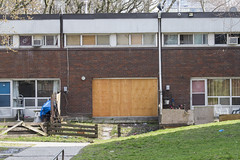 Alexandra Park, soon to be demolished (jer1961) Tags: toronto communityhousing publichousing alexandrapark torontopublichousing boardedup