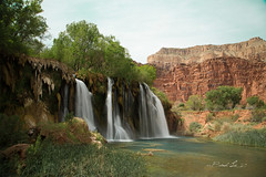 Navajo Falls (BX's Photos) Tags: havasu havasupai waterfalls havasucreek turquoise coloradoriver springtime havasucanyon redrockcanyon