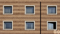 Rule of Thirds (occhio-x-occhio) Tags: rough watermark architecture brown morning web outdoor cement oxo monterotondo new wall glass g facade fb flickr