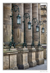 Lamps (Seven_Wishes) Tags: newcastleupontyne photoborder outdoor jo cb jg canoneos5dmarkiv canonef24105mmf4lisii streetphotography pillars plinth ornate building lamps lights sandstone architecture ironwork theatreroyal ejw