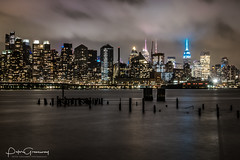 Manhattan Skyline At Night From Jacobs Pier, NJ (Peter Greenway) Tags: cityscape flickr hudsonriver night newjersey jacobspier skyline nightphotograph manhattan