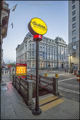 Porteño Subterraneo (MarioVolpi) Tags: argentina argentine buenosaires subte subway hdr blue azul