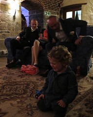 little tantrum (squeezemonkey) Tags: wingchee wedding cornwall polhawnfort ramehead guests socialising party evening interior crying